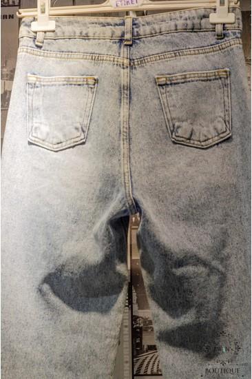 Açık Mavi Yüksek Bel Kot Pantolon