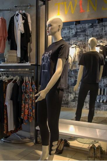 Baskılı Kadın T-Shirt Siyah