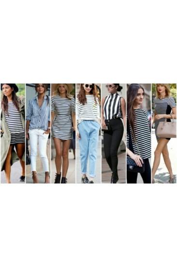 Çizgili Giyme Zamanı! Çizgili Kıyafetler Nasıl Giyilir ve Kombinlenir?