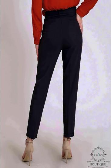 Kemerli Kadın Siyah Pantolon