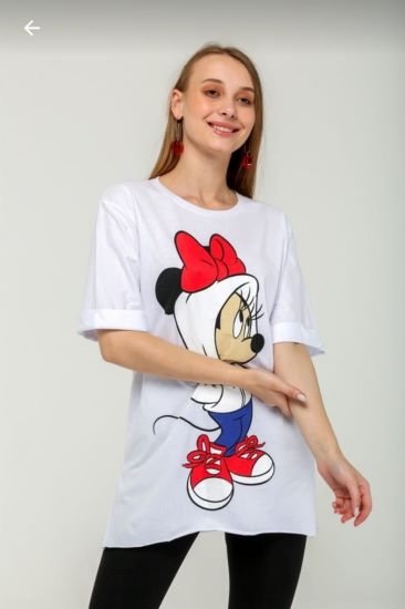 Mını Mouse Kadın T-Shırt Beyaz