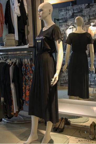 Mon Tresor Kadın Siyah Uzun Elbise