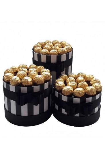 Silindir Kutu Hediye Çikolata 24
