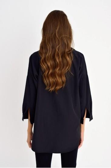 Yarım Kol Siyah Gömlek