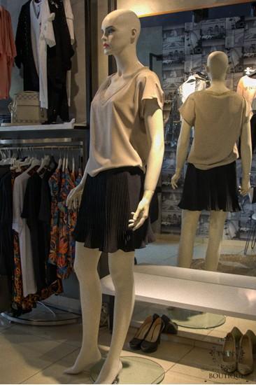 Vizon Rengi Kadın Bluz