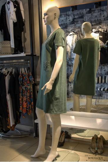 Yeşil Bayan Elbise
