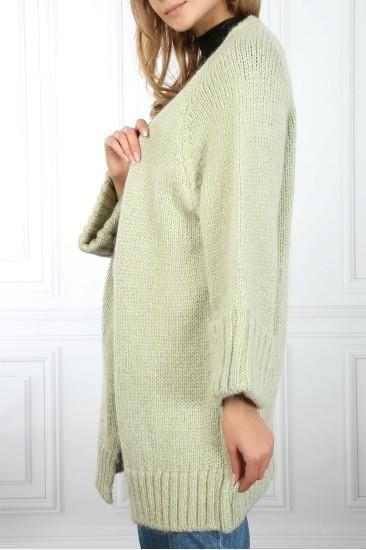 Yeşil Uzun Kadın Hırka