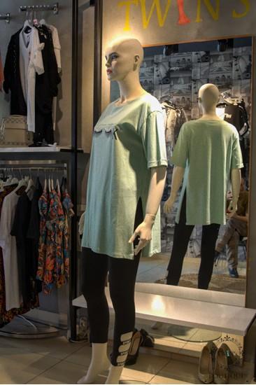 Yeşil Uzun T-Shirt
