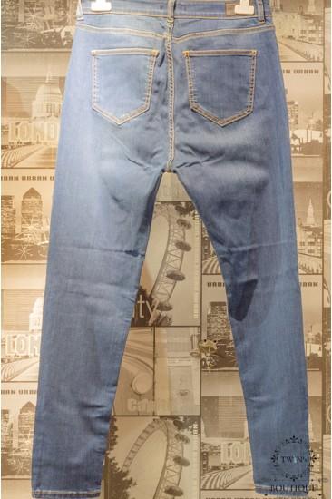 Yüksek Bel Mavi Kot Pantolon